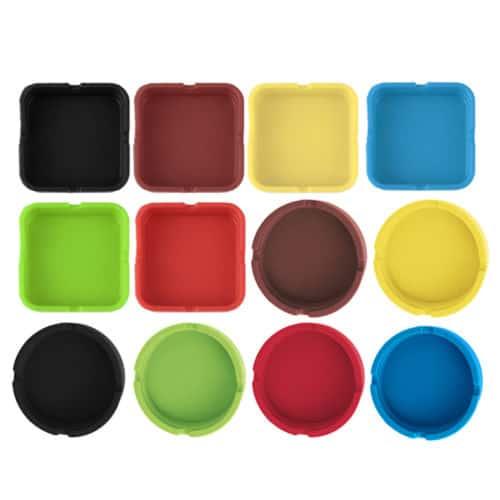 aschenbecher aus silikon rund oder eckig leichtes reinigen ab nur 1 15 euro gratis versand. Black Bedroom Furniture Sets. Home Design Ideas