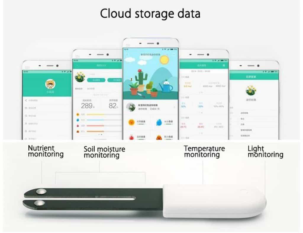 xiaomi mi pflanzensensor mit app-bedienung (ios & android) für nur 7