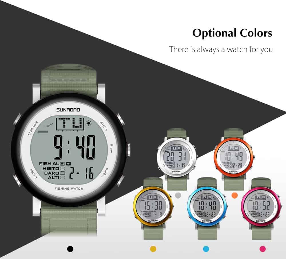 Die SUNROAD FR721 Armbanduhr für Sportler, Angler und Gadget-Fans!
