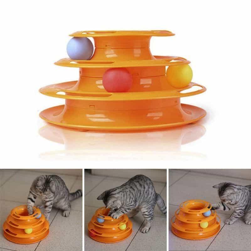 Spielzeugturm für Katzen mit 3 Bällen ab nur 4,77 Euro (kostenfreie Lieferung)!