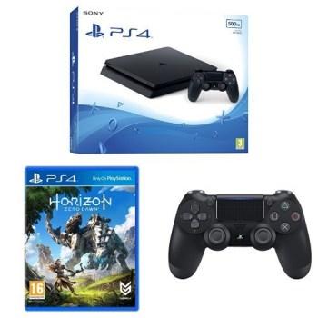 Sony PlayStation 4 Slim mit 500GB + 2. DualShock Controller Horizon-Zero Dawn für ca. 239,- Euro