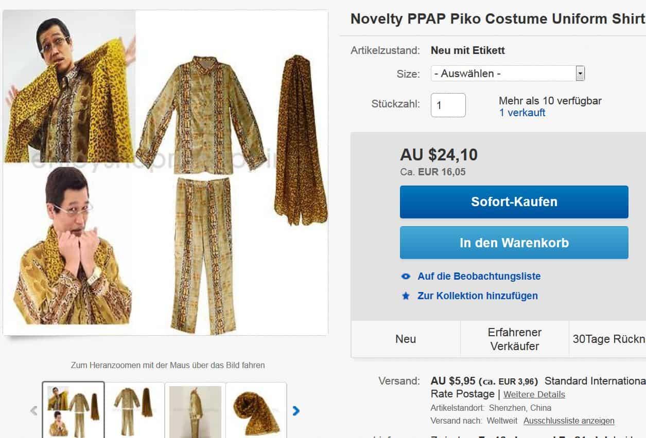 Harter PPAP-Style gefällig? Pineapple Pen Piko Kostüm ab 20,01 Euro inkl. Lieferung!