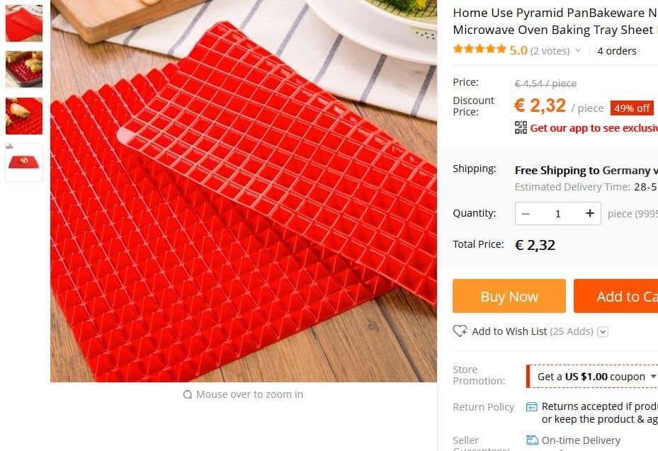 pyramid pan mal ein cooles k chen gadget um fett zu reduzieren f r nur 2 32 euro inkl versand. Black Bedroom Furniture Sets. Home Design Ideas