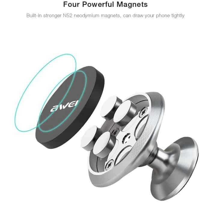 awei x6 magnet smartphone halter 4 47 euro inkl versand. Black Bedroom Furniture Sets. Home Design Ideas