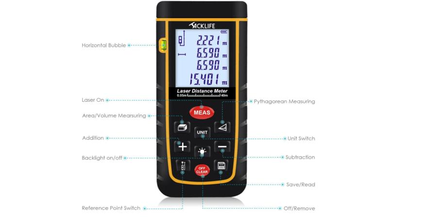 Tacklife Laser Entfernungsmesser Bedienungsanleitung : Tacklife laser entfernungsmesser bedienungsanleitung