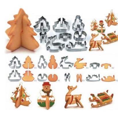 3D Kekse? 8 Stück Ausstechformen mit neuem Gutschein für nur 1,42 Euro (gratis Versand)!