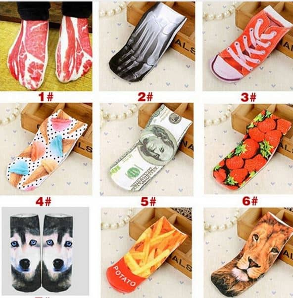 Lustige Socken je Paar nur 53 Cent inkl. Versand!