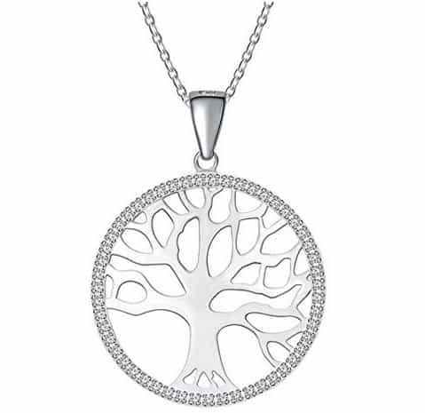 Damen-Kette mit Anhänger Baum des Lebens