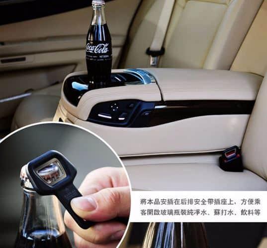 Ein Gurtschloss-Flaschenöffner fürs Auto? Sensoren austricksen?