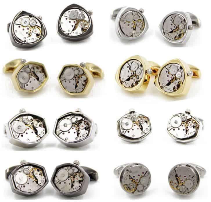 Manschettenknöpfe aus einem Uhrwerk ab nur 5,10 Euro pro Paar!