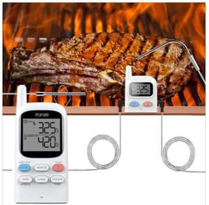 f r die profi griller ifanze funk grill thermometer mit 2 sonden li ion akku und 100 meter. Black Bedroom Furniture Sets. Home Design Ideas
