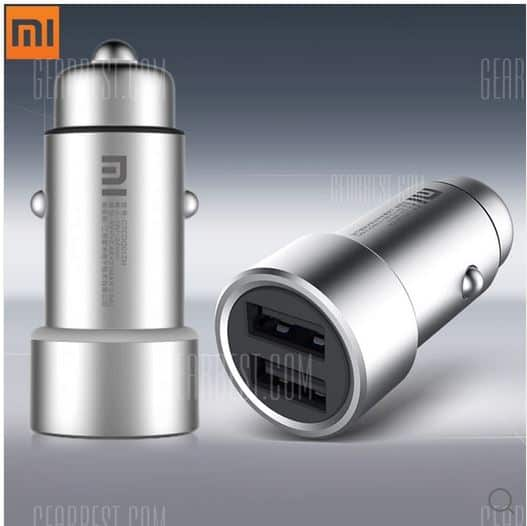 Xiaomi C1 dual USB-Ladeadapter aus Metall fürs Auto oder Wohnmobil!