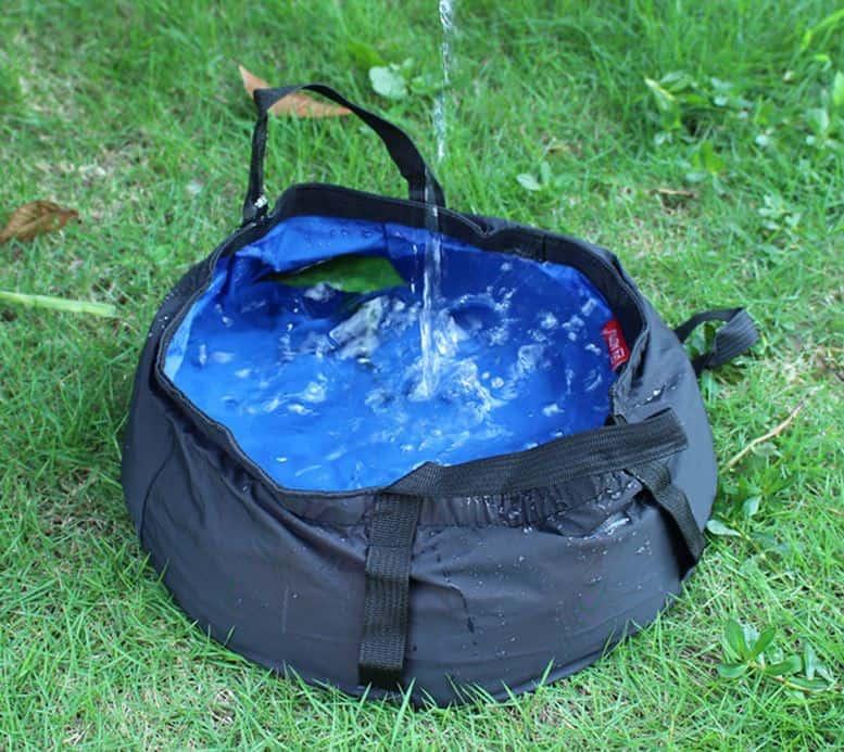 Faltbarer Eimer 8,5 Liter ab nur 2,04 Euro (gratis Versand)! Ideal auf Reisen als Wassernapf für große Hunde!