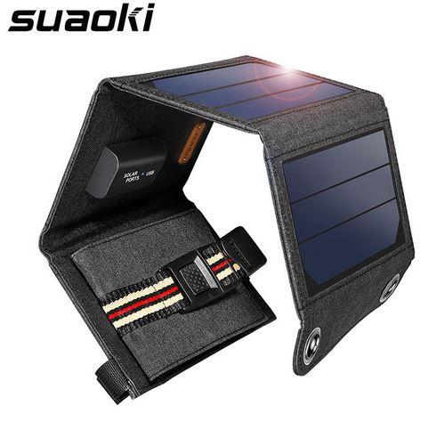 Knaller! Suaoki Solar Ladegerät im schönem Design mit Gutschein ab 9,99 Euro aus Deutschland!