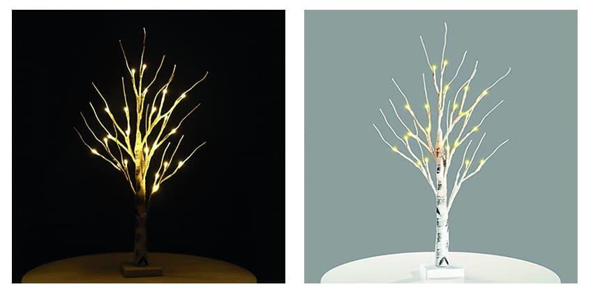Zanflare Batteriebetriebene Lampe Im Baumdesign Mit 24 Leds Fur Nur