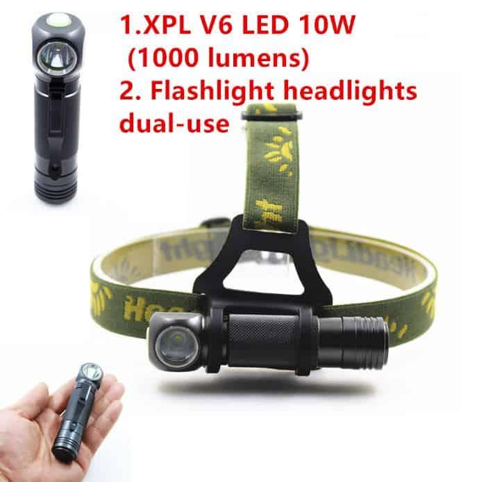 Knaller: Stirnlampe/Taschenlampe SHUOLIDE SLD-H6 XHP V6 mit 1000 Lumen für 9,99 Euro