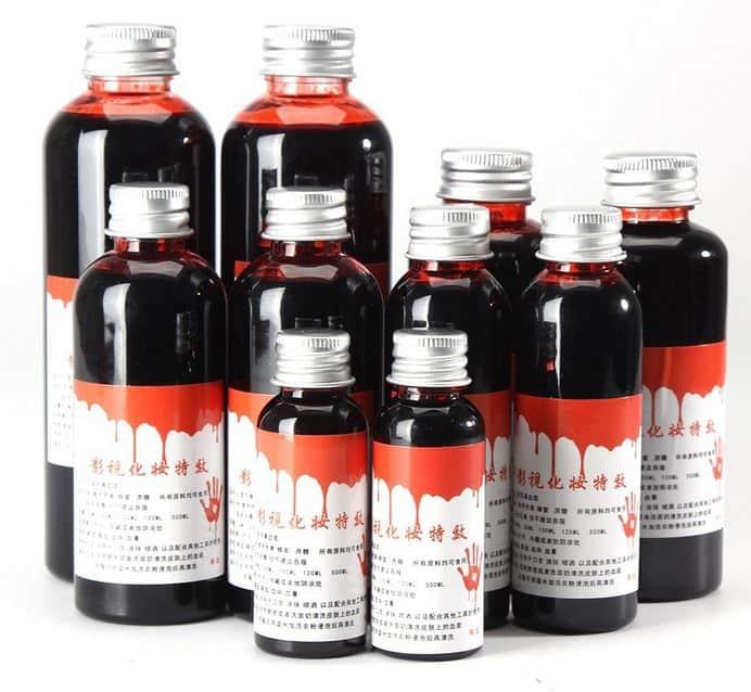 Kunstblut, Theaterblut oder Fake-Blut für nur 1,58 pro Flasche (60ml) im Flash Sale bei Tomtop!