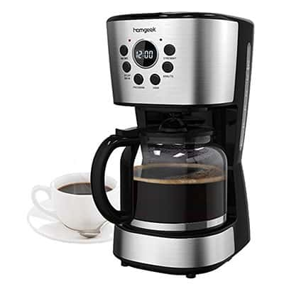 Homgeek Kaffeemaschine für 12 Tassen mit Timer-Funktion für nur 24,99 Euro inkl. Prime-Versand