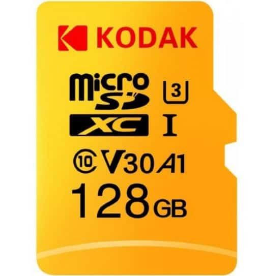 Kodak High Speed 128GB U3 A1 V30 Class10 microSD Karte für nur 16,04 Euro inkl. Versand!