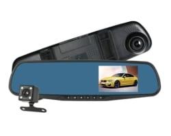 KKmoon HD Rückspiegel-Dashcam + Rückfahrkamera