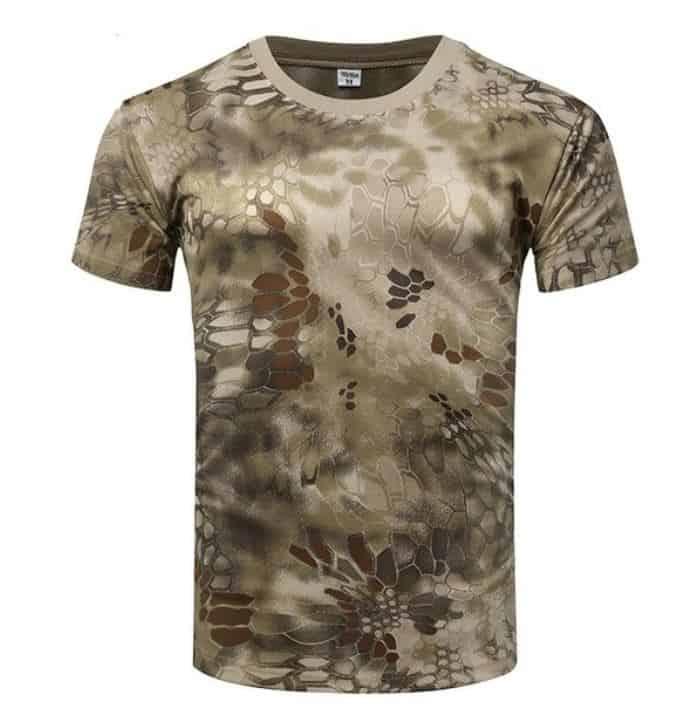 T-Shirt in 8 verschiedenen Tarnfarben und den Größen S-XXXL! Atmungsaktiv, windundurchlässig, runder Halsausschnitt, schnell trocknend!