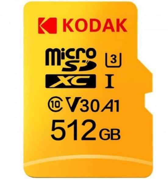 Günstiger! Kodak SDXC U3 A1 V30 microSDXC 512GB Speicherkarte für 75,15 Euro inkl. zollfreiem Versand mit Germany Line!