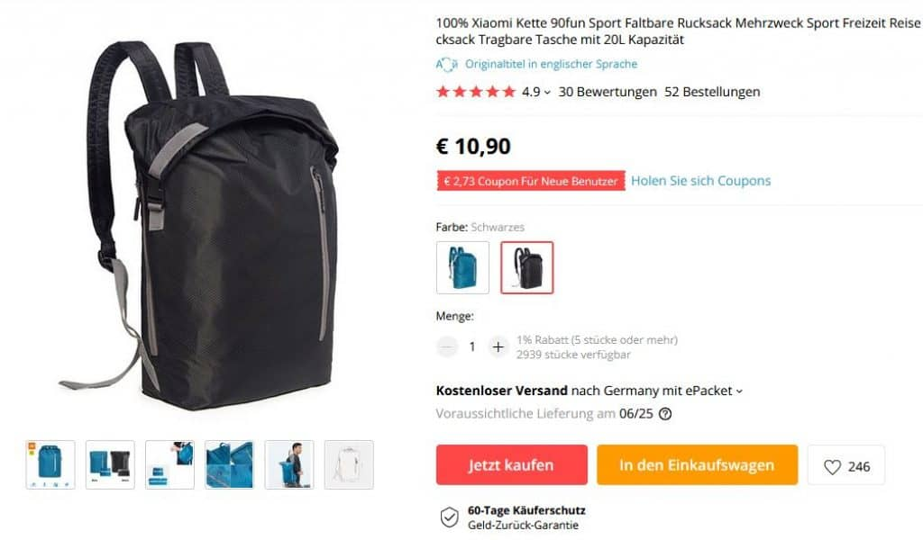 Videospiele GüNstig Einkaufen 100% Xiaomi Kette 90fun Sport Faltbare Rucksack Mehrzweck Sport Freizeit Reise Rucksack Tragbare Tasche Mit 20l Kapazität