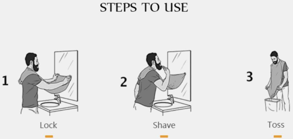 Bartschürze, Tuch Bart schneiden, Rasierschürze