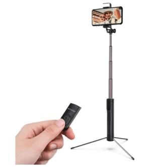 Blitzwolf BW-BS8 Bluetooth Selfie Stick mit Tripod, Fernbedienung und Beleuchtung