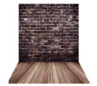 Andoer 1,5 x 2 m Fotohintergrund mit Backsteinmauer und Holzboden für 8,99 Euro bei Amazon