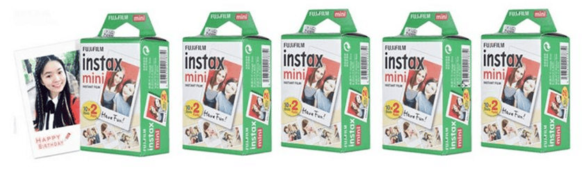 100er-Pack Fuji Instax Mini Filme (7s/8/9/25/50) für nur 55,88 Euro inkl. Versand