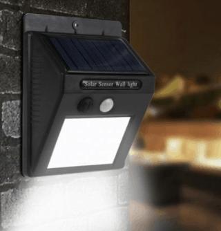 Solar LED-Aussenleuchte mit Bewegungsmelder für unter 4,- Euro