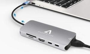 Anoopsyche 9-in-1 Aluminium USB C Adapter mit 4K HDMI und Gigabit Ethernet für 21,99 Euro statt 43,99 Euro