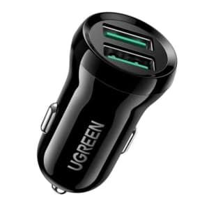 UGREEN 70192 Quick Charge 3.0 Autoladegerät mit 2 USB Ports nur 5,49 Euro bei Amazon