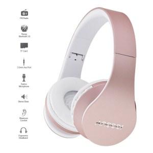 Andoer Bluetooth Kopfhörer LH-811 in Rose für 10,99 Euro
