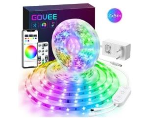 2 x 5m Govee RGB LED Streifen mit Kabelcontroller, Fernbedienung und App-Control für 27,99 Euro