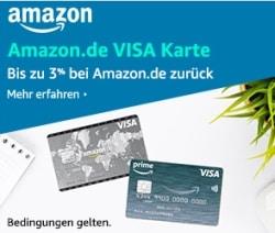 Amazon Visa Karte mit 40,- Euro Startguthaben mit und ohne Prime-Mitgliedschaft