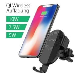 BlitzWolf BW-CW1 Wireless Autoladegerät-Handyhalterung für 11,19 Euro