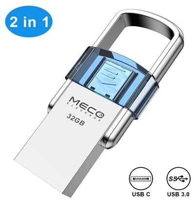 MECO ELEVERDE 2-in-1 OTG Speicherstick (32GB, USB-C&USB 3.0) für nur 7,99 Euro inkl. Versand