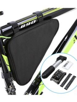 Lixada Fahrrad-Rahmentasche mit Luftpumpe, Multitool und Flickzeug für 8,99 Euro