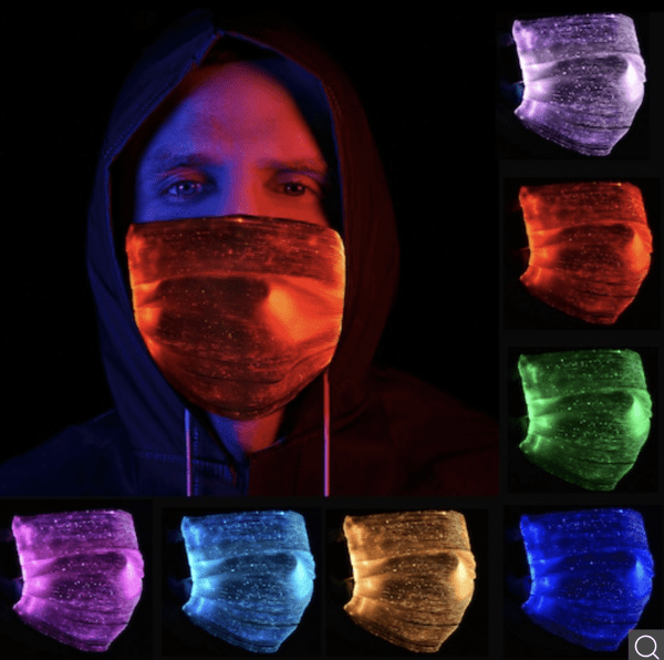LED Mund-Nasen-Schutz mit austauschbarem Filter für 11,12 Euro