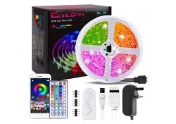 Coolapa 20m RGB LED-Strip mit Netzteil und Fernbedienung für 19,49 Euro