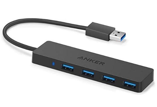 Prime-Deal: Anker Ultra Slim Extra Leicht 4 Port USB 3.0 Hub für 8,49 Euro
