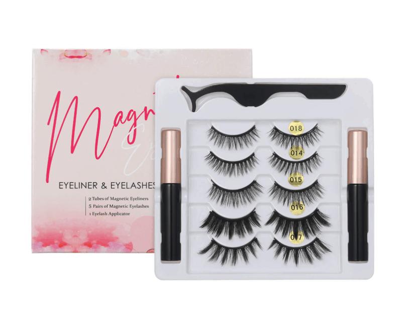 Anself 5 Paare Magnetische Wimpern mit Magnetic Eyeliner für nur 6,99 Euro inkl. Versand