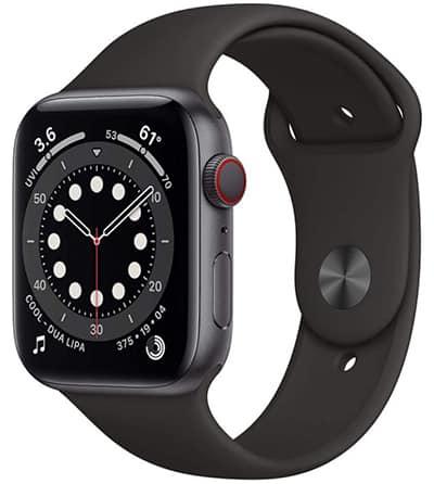 Apple Watch Series 6 (GPS + Cellular, Aluminiumgehäuse, Space Grau) mit Sportarmband für nur 483,75 Euro