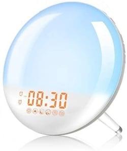Elfeland Lichtwecker mit USB-Ladeanschluss, Wake-Up Light und FM-Radio für 20,92 Euro