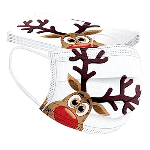 10er-Pack Aberimy Mund-Nasen-Schutz mit Weihnachtsmotiven für nur 2,49 Euro