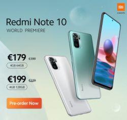 Vorbesteller Deal: Xiaomi Redmi Note 10 und Note 10 Pro Smartphone ab 154,- Euro bei Goboo.com