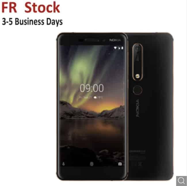 Endet heute! Nokia 6.1 Android LTE Design-Smartphone, 32GB, Dual-SIM, 5,5″, NFC nur 87,26 Euro inkl. EU-Versand