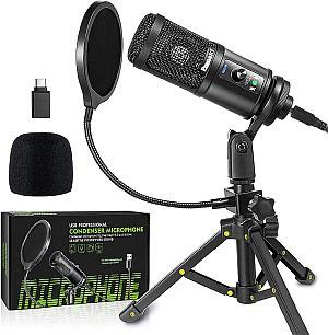 Ezanaki USB Kondensatormikrofon mit Ständer für 23,99€